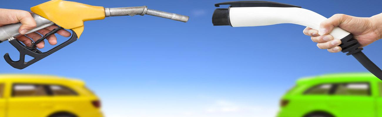 Fuel pump meets electric charging vehicle cord
