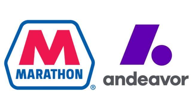 Marathon and Andeavor logos
