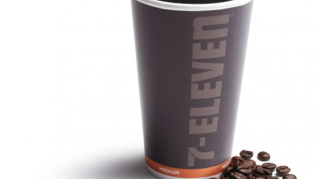 medium cup of 7-Eleven coffee