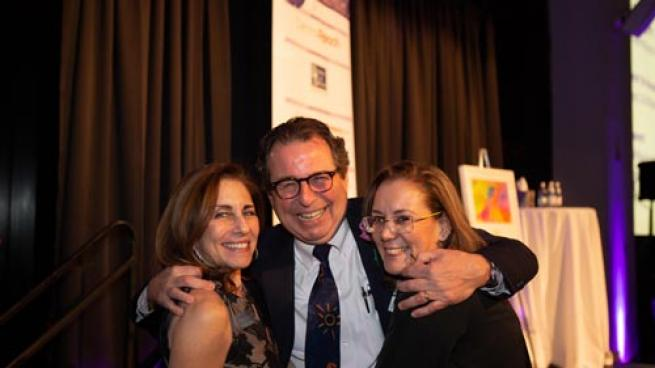 """Lauren C. Solotar, May Institute president and CEO (l); Leo Vercollone, CEO of VERC Enterprises; and Jolie Beaupre, parent, May Center School for Autism and Developmental Disabilities at """"An Evening of Hope & Possibility."""""""