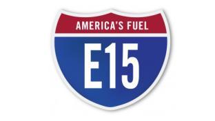 An alternative fuel E15 highway sign