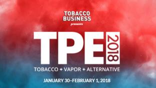 A screenshot of the Tobacco Plus Expo website