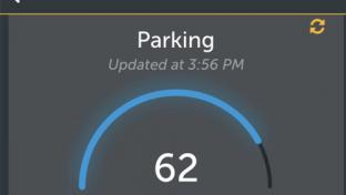 The parking feature on Pilot Flying J's mobile app