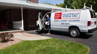 A truck for Polsinello's home heating and commercial fuels business