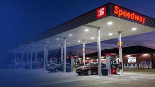 The exterior of a Speedway gas station