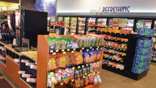 The inside of a convenience store