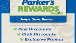 Parker's Rewards program flyer