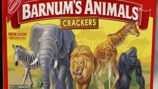 redesigned Barnum's Animals crackers boxes
