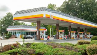The c-store/gas station combination on George Washington Memorial Highway in Hayes, Va. is one of five sites up for sale.