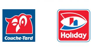 Couche-Tard and Holiday logos