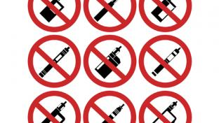 No vapor products sign